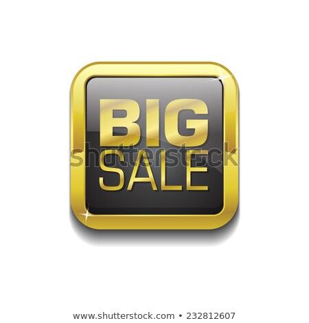 Big Sale Gold Vector Icon Button Stock photo © rizwanali3d