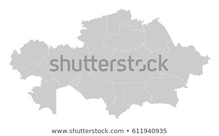силуэта карта Казахстан знак белый Сток-фото © mayboro