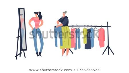 Vásár poszter ruházat gradiens háló szív Stock fotó © adamson