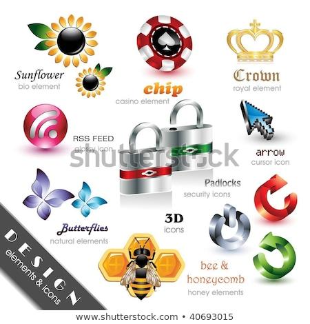 RSS Sign golden Vector Icon Design Stock photo © rizwanali3d