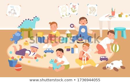 Jardim de infância brinquedos educação ferramentas usado escolas Foto stock © nikdoorg