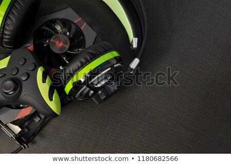 Bányászat fekete irányítás konzol kék háttérvilágítás Stock fotó © tashatuvango