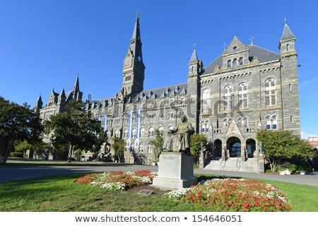 universidade · principal · edifício · ciência · arquitetura · estátua - foto stock © rmbarricarte