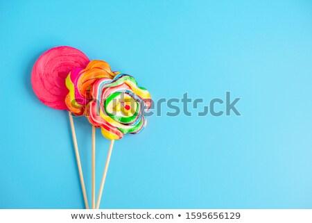 Drie kleurrijk voedsel Rood plastic Geel Stockfoto © dezign56