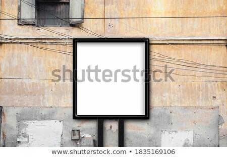Reklam açık ilan panosu mavi gökyüzü şehir sokak Stok fotoğraf © fresh_5449486