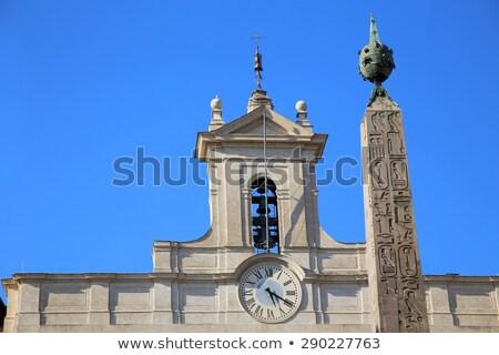 Obelisk of Montecitorio and Italian parliament on Piazza di Mont Stock photo © vladacanon