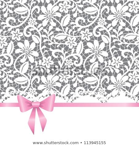 Wedding lace garter Stock photo © dariazu