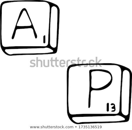 Fortuna parola isolato lettere bordo scuola Foto d'archivio © fuzzbones0