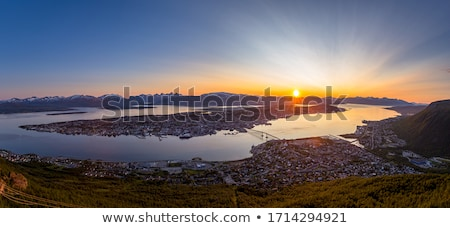 Mezzanotte sole sopra nubi Foto d'archivio © Harlekino