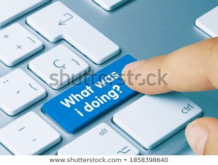 toetsenbord · computer · onderwijs · Blauw · sleutel - stockfoto © tashatuvango