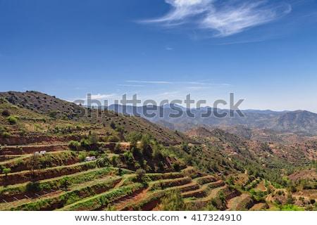 Panorama of Lefkara village. Limassol district. Cyprus Stock photo © Kirill_M