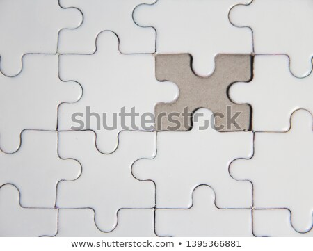 teamwork   white word on blue puzzles stock photo © tashatuvango