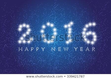 Csillagos új 2016 év üdvözlőlap égbolt Stock fotó © carodi