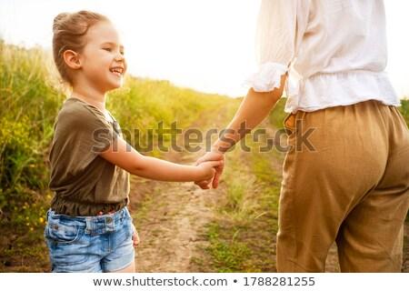 Anya tart baba kezek szabadtér nyár Stock fotó © Paha_L