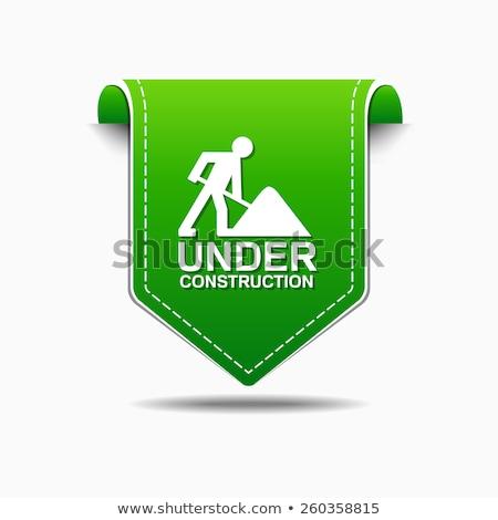 Bouw groene vector icon ontwerp digitale Stockfoto © rizwanali3d