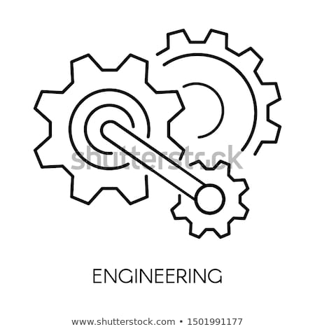 Stock photo: Optimization Process on Blueprint of Cogs.