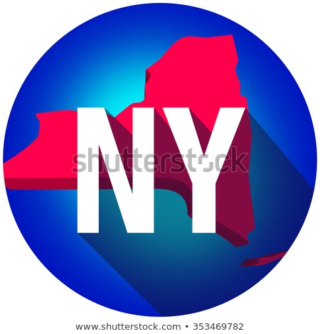 New York NY Letters Abbreviation Red 3d State Map Long Shadow Ci Stock photo © iqoncept