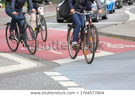 自転車 通り 孤独 待って 周りに ストックフォト © lionsdenpro