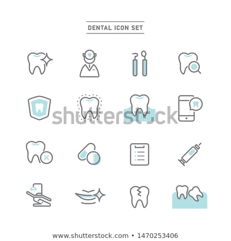 Dental icon. Stomatology Stock photo © netkov1