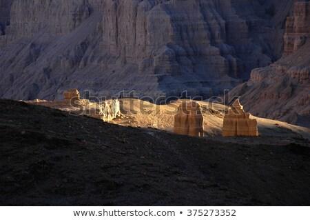 paisagem · ocidente · tibete · terra · floresta · pôr · do · sol - foto stock © bbbar