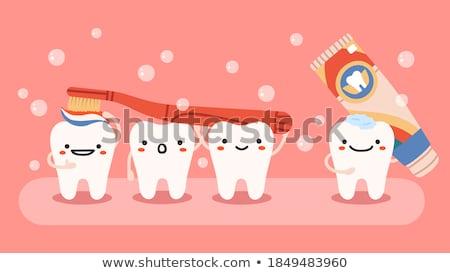 Escove creme dental ilustração branco projeto saúde Foto stock © get4net
