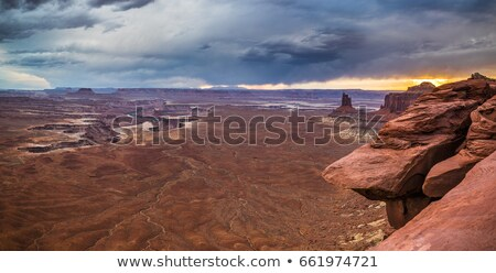 colorido · pôr · do · sol · Grand · Canyon · ponto · sul - foto stock © meinzahn