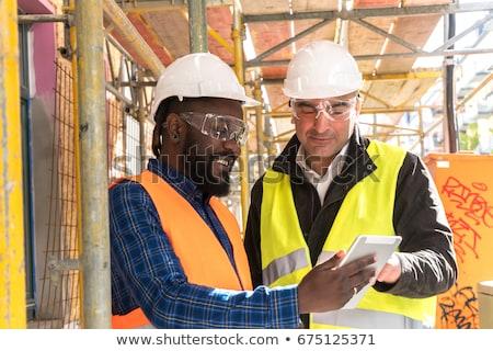 professionali · lavoratori · collage · sorridere · uomo · maturo · posa - foto d'archivio © zurijeta