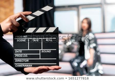 film · bord · isolé · blanche · cinéma · noir - photo stock © digifoodstock