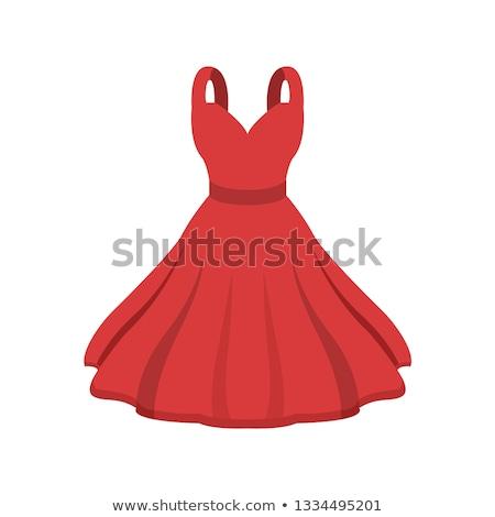 sziluett · lány · fehér · estélyi · ruha · buli · modell - stock fotó © marysan