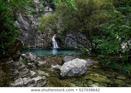 водопада горные Греция лес зеленый рок Сток-фото © ankarb