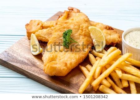 жареный · рыбы · белый · пластина · мяса · томатный - Сток-фото © digifoodstock
