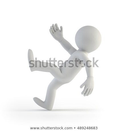 3d small people - slipped Stock photo © AnatolyM