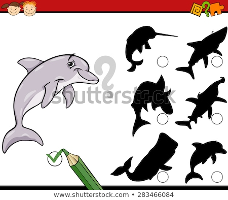 shadow matching game with fish stock photo © bluering