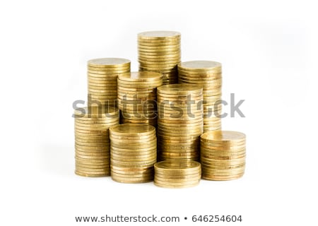 stacks of coins on a white background Stock photo © mizar_21984