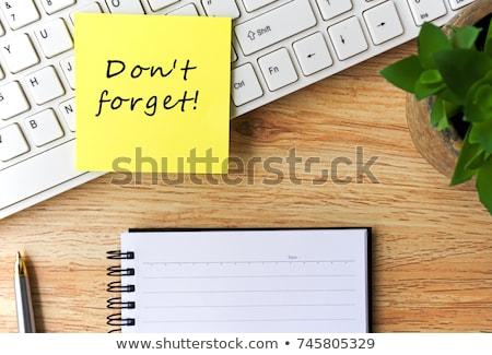 Słowo notatnika pióro biuro farbują biurko Zdjęcia stock © fuzzbones0