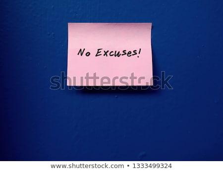 No Excuses text on notepad Stock photo © fuzzbones0