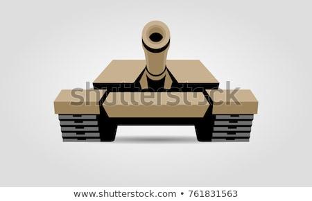 Foto stock: Militar · tanque · ilustração · pistola · máquina · gráfico