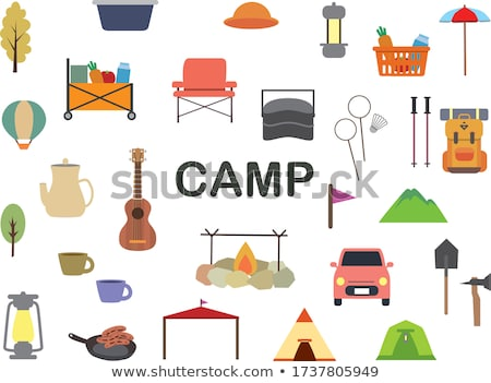 Camping materials Stock photo © bluering