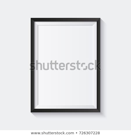 Zwarte fotolijstje witte hout frame luxe Stockfoto © goir