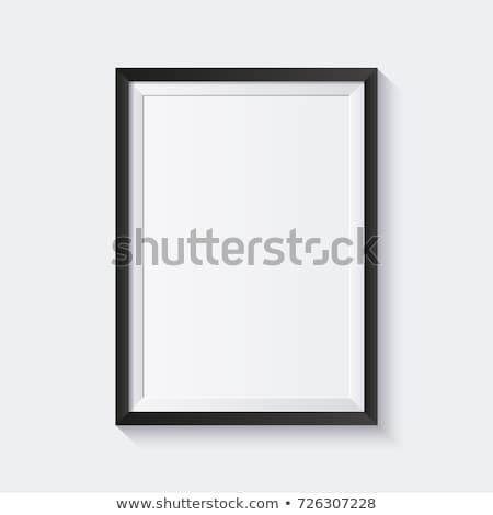 Noir cadre photo blanche bois cadre luxe Photo stock © goir