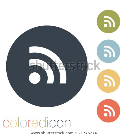 RSS icon with highlight Stock photo © Oakozhan