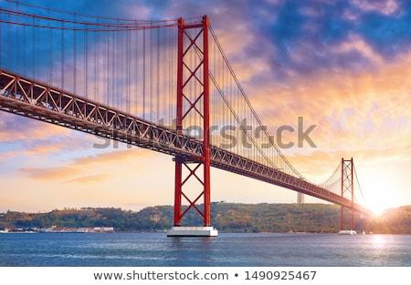25 · ponte · Lisboa · noite · ver · Portugal - foto stock © luissantos84