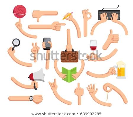 ludzi · ręce · farbują · gumy · coś · biały - zdjęcia stock © jonnysek