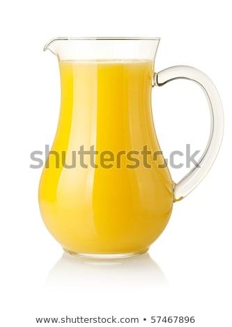 Kancsó narancslé friss üveg gyümölcs narancs Stock fotó © Digifoodstock