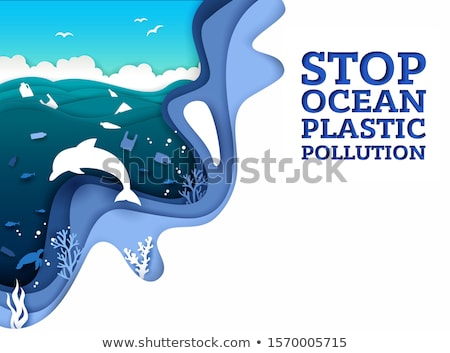 Pollution vague environnement danger symbole industrielle Photo stock © Lightsource