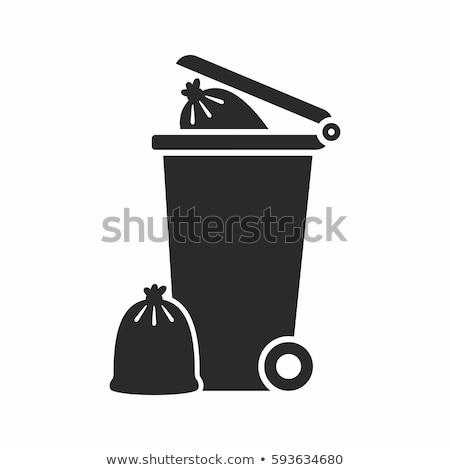 Rubbish bin full of trash Stock photo © bluering