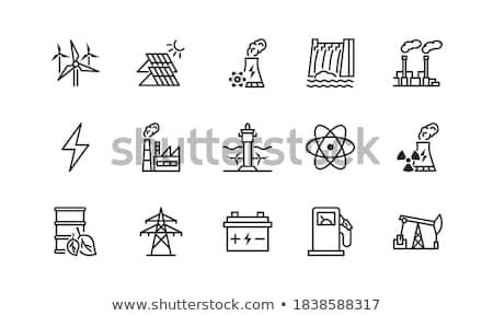 sun power line icon stock photo © rastudio