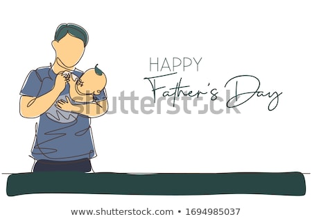 modern minimal happy fathers day art Stock photo © SArts