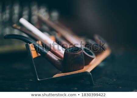 vektor · férfi · dohányzás · dohány · cső · iroda - stock fotó © swillskill