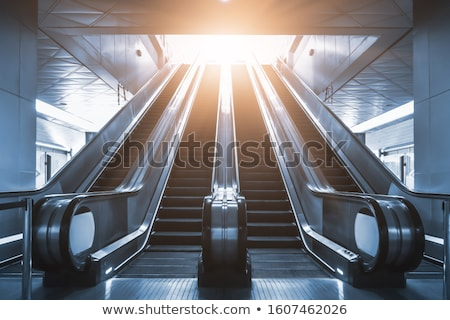 Empty moving escalator in underground railway station Stock photo © stevanovicigor